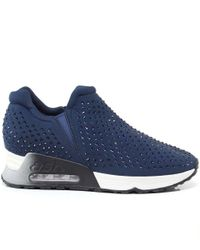 Ash - Blue Embellished Neoprene Lifting Trainers - Lyst