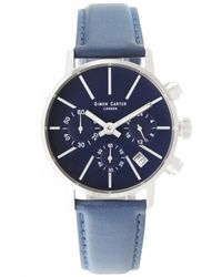 Simon Carter - Blue Face Chronograph Watch for Men - Lyst