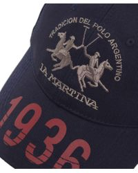 La Martina - Blue Heritage Logo Cap for Men - Lyst