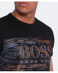 BOSS Green - Black Regular Fit Tee 10 T-shirt for Men - Lyst