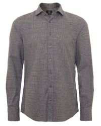 Hackett - Gray Slim Fit Prince Of Wales Check Shirt for Men - Lyst