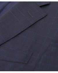 Corneliani - Blue Virgin Wool Prince Of Wales Check Suit for Men - Lyst