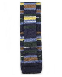Eton of Sweden - Blue Knitted Striped Tie for Men - Lyst