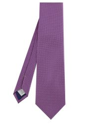 Eton of Sweden - Purple Textured Tie for Men - Lyst