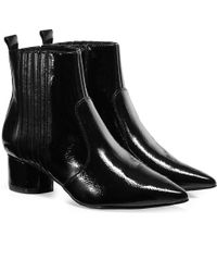 Kendall + Kylie - Black Patent Leather Studded Ankle Boots - Lyst