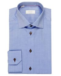 Eton of Sweden | Blue Contemporary Fit Herringbone Shirt for Men | Lyst