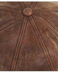 Stetson - Brown Burney Pig Skin Cap for Men - Lyst