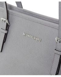 MICHAEL Michael Kors - Gray Jet Set Top-zip Large Travel Tote Bag - Lyst