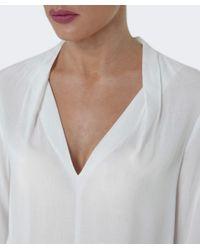 Velvet By Graham & Spencer | White Sarafina V-neck Top | Lyst