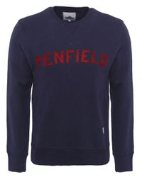 Penfield - Blue Crew Neck Brookport Sweatshirt for Men - Lyst