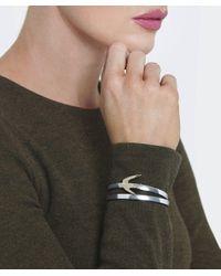 McQ Alexander McQueen | Metallic Swallow Leather Wrap Bracelet | Lyst