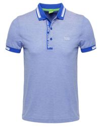 BOSS Green | Blue Slim Fit Paule4 Polo Shirt for Men | Lyst