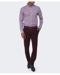 Hackett - Purple Ashby Corduroy Trousers for Men - Lyst