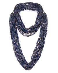 Jianhui - Blue Pashmina Chain Necklace - Lyst
