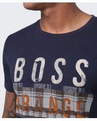BOSS Orange - Blue Taiwo Graphic Logo T-shirt for Men - Lyst