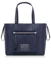 Marc Jacobs | Blue Zip It Saffiano Zipper Tote Bag | Lyst