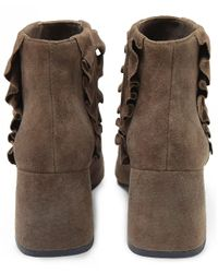 Senso - Brown Suede Sloan Frill Detail Boots - Lyst