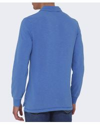 Napapijri - Blue Esauf Long Sleeve Polo Shirt for Men - Lyst