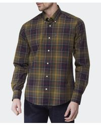 Barbour - Green Tailored Fit Tartan Herbert Shirt for Men - Lyst