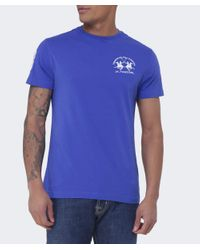 La Martina - Blue Crew Neck Pereira T-shirt for Men - Lyst
