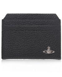 Vivienne Westwood | Black Leather Grain Orb Card Holder for Men | Lyst