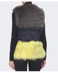 Yves Salomon - Yellow Trio Colour Fur Waistcoat - Lyst