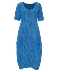 Grizas - Blue Linen Textured T-shirt Dress - Lyst