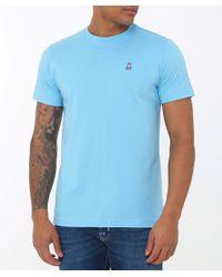Psycho Bunny - Blue Crew Neck Logo T-shirt for Men - Lyst