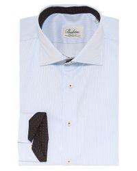 Stenstroms - Blue Fitted Pinstripe Shirt for Men - Lyst