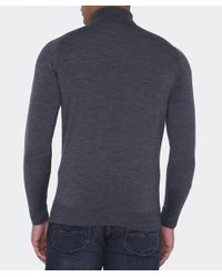 John Smedley - Gray Standard Fit Merino Wool Roll Neck Cherwell Jumper for Men - Lyst