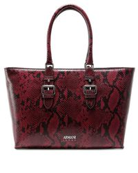 Armani Jeans - Multicolor Borsa Snake Effect Shopper Bag - Lyst