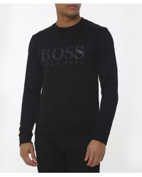 BOSS - Sweatshirt Black for Men - Lyst