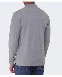 La Martina - Gray Logo Long Sleeve Polo Shirt for Men - Lyst