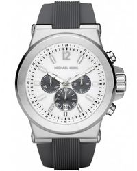 MICHAEL Michael Kors - Metallic Chronograph Rubber Strap Michael Kors Watch Mk8183 for Men - Lyst