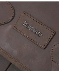 Barbour - Green Wax Leather Tarras Bag - Lyst