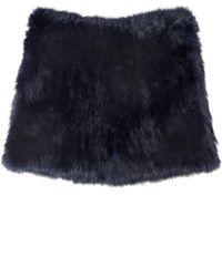 Yves Salomon | Purple Fur Snood | Lyst