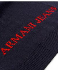 Armani Jeans - Blue Hat & Scarf Box Set for Men - Lyst