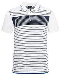 BOSS - White Regular Fit Striped Paddy 5 Polo Shirt for Men - Lyst