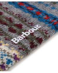 Barbour - Gray Striped Boyd Socks for Men - Lyst