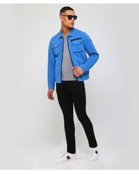 Paul And Shark - Blue Shark Fit Woven Utility Jacket for Men - Lyst
