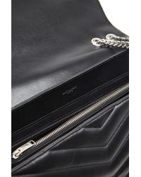 Saint Laurent - Black 'loulou' Shoulder Bag - Lyst
