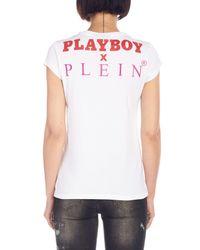 Philipp Plein - White 'play Boy' T-shirt - Lyst