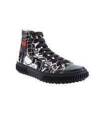 Prada - Black Comics High Top Sneaker for Men - Lyst