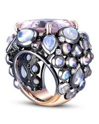 Nina Runsdorf - Multicolor Morganite Moonstone Ring - Lyst