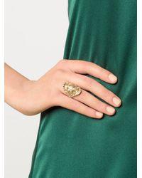 Venyx - Yellow Gold Madagascar Ring - Lyst