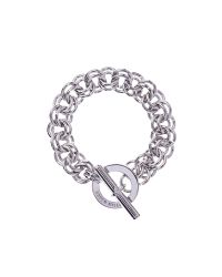 Karen Millen | Metallic Encrusted Bar & Hoop Bracelet - Silver Colour | Lyst