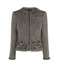Karen Millen | Multicolor Tweed Jacket - Black/multi | Lyst