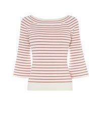 Karen Millen | Fine Stripe Jumper - White/multi | Lyst