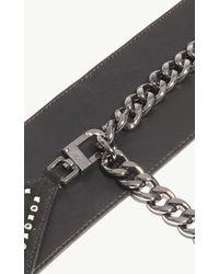 Karen Millen - Chevron Stud Belt - Black - Lyst