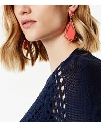 Karen Millen - Red Shard Drop Earrings - Lyst